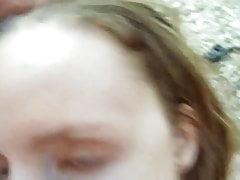 Weird Girl Doing a Blowjob in the Woods
