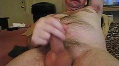 uncut hairy man verbal jack off and cum
