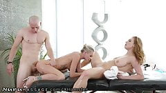 NuruMassage Lucky Guy Isn't Expecting to Fuck 2 Chicks 2Day!