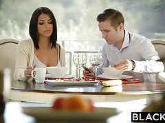 Blacked brunette adriana chechik takes trio of bbcs Thumbnail