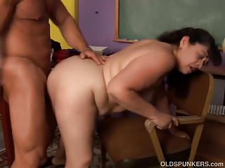 Cute chubby old spunker loves hardcore fucking and 2 eat cum