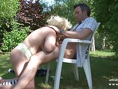 Chubby bbw french mature nextdoor hard banged outdoor