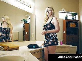 Hot Busty Milf Julia Ann Pleasures Lucky Fan S Hard Cock