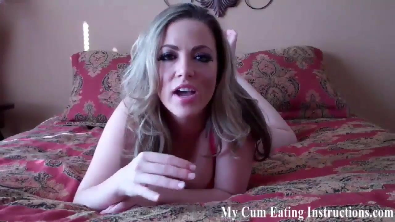shoot your cum right down your own throat cei