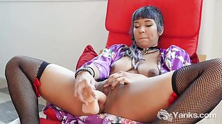 Yanks Midori Fucks Herself With Her Dildo