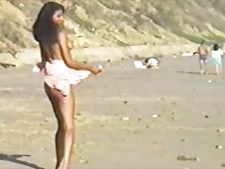 Totally naked on beach and nobody gives a fuck