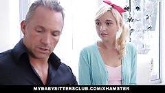 MyBabySittersClub Adorable Teen Babysitter Fucks For A Raise