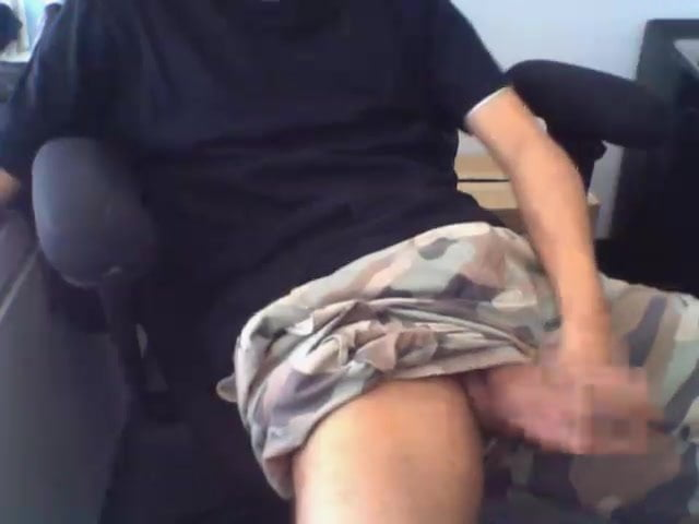 Jerking off at work-8445