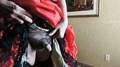 Sissy Ray in Red Sissy dress in hotel 1