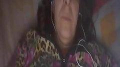 Old woman in Skype