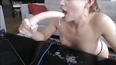 messy spit play deepthroat camwhore