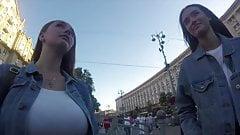 BUSTY TEEN street pickup in Ukraine