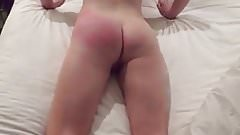 small booty spanked hard