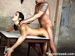 3 of the best struggling sub babes tied and fucked videos