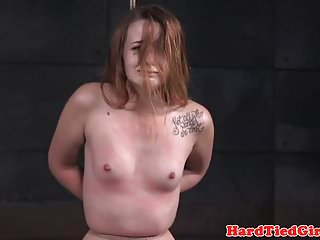 Dominated sub anal punished with dildo