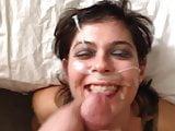 Artistic Facial Splatter On Slutty Girl