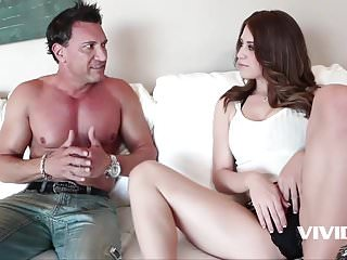 Spoiled rich girl is so horny she fucks her gardener
