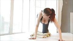 Girl DownBlouse Workout