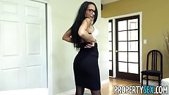 PropertySex - Hot brunette real estate agent fucks client