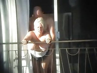 Preview 6 of sex and balcony (Voyeur get caught)