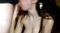 Beautiful girl loves to suck dick