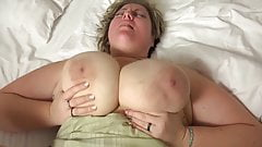 big blonde with huge tits fucked in bed's Thumb