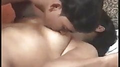 Indian Desi bhabhi with younger boy