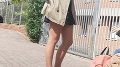 Sexy legs in tan pantyhose 02