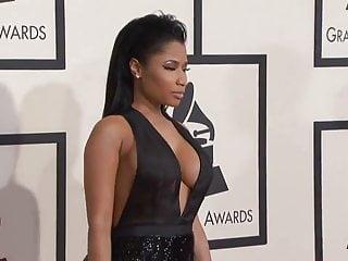 Nicki Minaj 2015 Grammy Red Carpet, epic cleavage