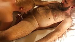 soft Ginger boy and hairy hard dad getting ready