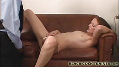 Sit in the corner and watch me take a big black monster cock