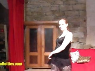 Shy czech student does strip at the first CASTING