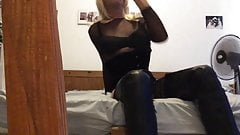 Blondy need toy up her ass
