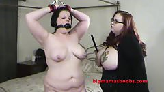 Cruel huge titted Mistress