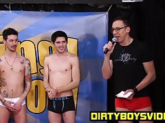 Aiden Summers behind the scenes with Andrew and JT Frost