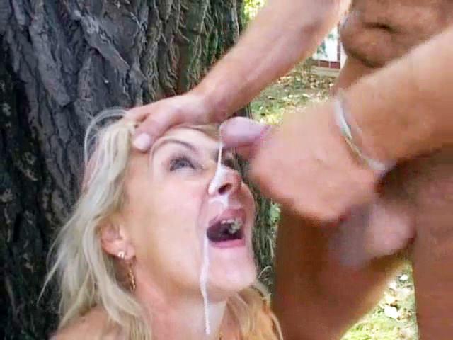 Busty Mature Receives Facial Cumshot Outdoor Free Porn 1F-6704