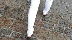 Candid Ass Milf Walking on the Street City