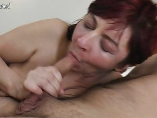 Real grandma fucked by young boy