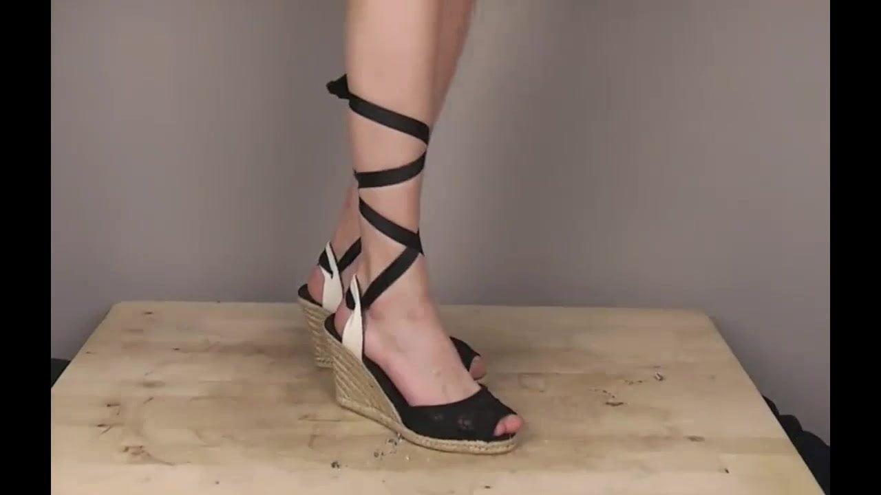 High heel leather crush boy free porn