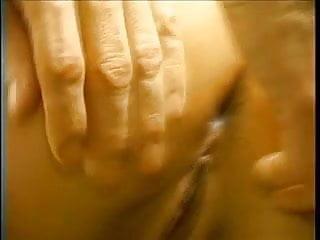 Raunchy blonde babe enjoys her first anal creampie