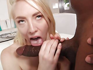 Taking the biggest dick of her life!