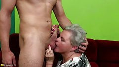 Old granny licked and fucked b
