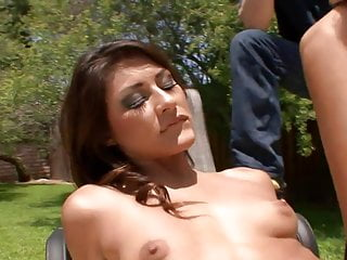 Slutty housewife fucks a hunk in front of her husband