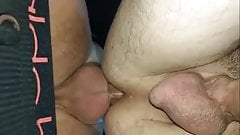 Outdoor creampied ass
