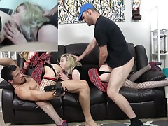 2 petite blondes with braces fuck 2 guys for the 1st time
