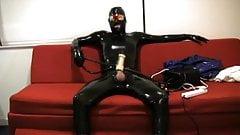 Venus 2000 cum in full latex rubber suit