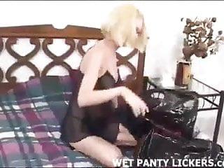 Blonde hottie stole her best friend panties