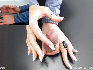 Sensual Jasmine - Gloryhole Handjob #1 - Lingam Massage -Cum