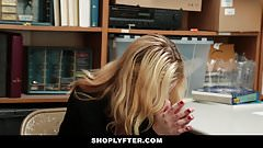 Shoplyfter - Prevention Officer Cuffs & Fucks Blonde Thief