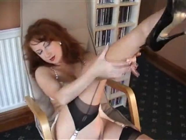 German Housewife Tina In Black Stockings Masturbating Gotporn 1